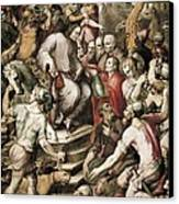 Spain 16th C.. Port Of Embarkation Canvas Print by Everett