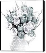 Speak Softly Tulips Canvas Print by Debra  Miller