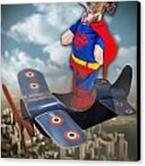 Speedolini Flying High Canvas Print by Kathy Tarochione