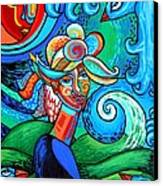Spiral Bird Lady Canvas Print by Genevieve Esson