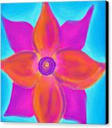 Spiral Flower Canvas Print by Daina White