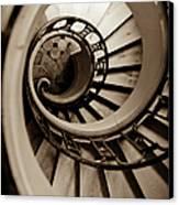 Spiral Staircase Canvas Print by Sebastian Musial