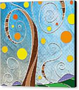Spiralscape Canvas Print by Shawna Rowe
