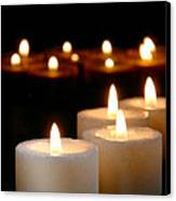 Spiritual Reflection Candles Canvas Print by Olivier Le Queinec