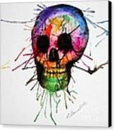 Splatter Skull Canvas Print by Christy Bruna