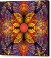 Split Crops Fractal Canvas Print by Peggi Wolfe