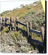 Split Rail Fence Yellow Canvas Print by Barbara Snyder