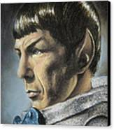 Spock - The Pain Of Loss Canvas Print by Liz Molnar