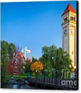 Spokane Fall Colors Canvas Print by Inge Johnsson