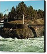Spokane Falls - Spokane Washington Canvas Print by Beve Brown-Clark Photography