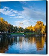 Spokane Reflections Canvas Print by Inge Johnsson