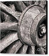 Spokes And Axle Canvas Print by Olivier Le Queinec