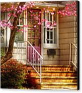 Spring - Door - Dogwood  Canvas Print by Mike Savad