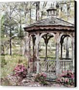Spring Gazebo Painteffect Canvas Print by Debbie Portwood