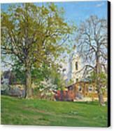 Spring In Kaluga Canvas Print by Victoria Kharchenko