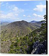 Spring In The Mountains Canvas Print by Susan Leggett