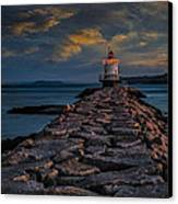 Spring Point Ledge Lighthouse Canvas Print by Susan Candelario
