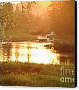 Spring Sunset Canvas Print by Alana Ranney