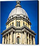 Springfield Illinois State Capitol Dome Canvas Print by Paul Velgos