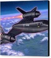 Sr-71 Blackbird Canvas Print by Stu Shepherd
