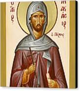 St Anastasios The Persian Canvas Print by Julia Bridget Hayes