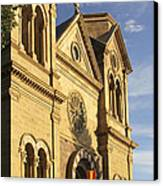 St. Francis Cathedral - Santa Fe Canvas Print by Mike McGlothlen