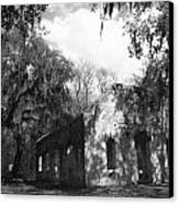 St Helena Chapel Of Ease Bw 2 Canvas Print by Steven  Taylor