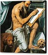 St. Jerome Canvas Print by Willem Key