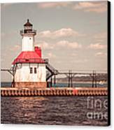 St. Joseph Lighthouse Vintage Picture  Photo Canvas Print by Paul Velgos