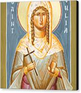 St Julia Of Carthage Canvas Print by Julia Bridget Hayes