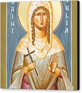 St Julia Of Carthage Canvas Print by Julia Bridget Hayes