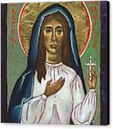 St Kateri Tekakwitha Canvas Print by Jennifer Richard-Morrow