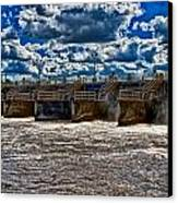 St Lucie Lock And Dam 3 Canvas Print by Dan Dennison