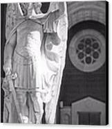 St. Michael The Archangel Canvas Print by Brian Druggan