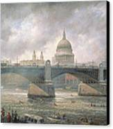 St. Paul's Cathedral From The Southwark Bank Canvas Print by Richard Willis