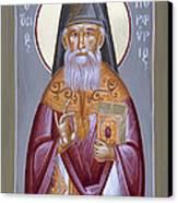 St Porphyrios The Kavsokalyvitis Canvas Print by Julia Bridget Hayes