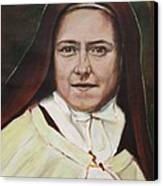 St. Therese Of Lisieux Canvas Print by Sheila Diemert