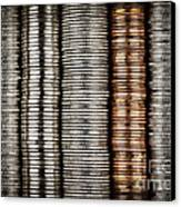 Stacked Coins Canvas Print by Elena Elisseeva