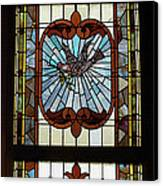 Stained Glass 3 Panel Vertical Composite 03 Canvas Print by Thomas Woolworth