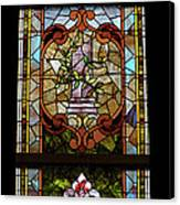 Stained Glass 3 Panel Vertical Composite 06 Canvas Print by Thomas Woolworth