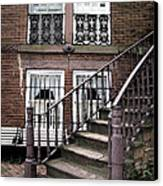 Staircase And Shutters Canvas Print by Linda Ryan