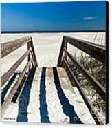Stairway To Happiness And Possibilities Canvas Print by Michelle Wiarda