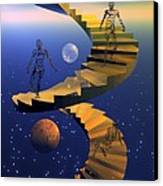 Stairway To Imagination Canvas Print by Claude McCoy