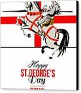 Stand Tall Stand Proud Happy St George Day Retro Poster Canvas Print by Aloysius Patrimonio