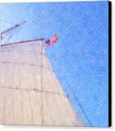 Star Of India. Flag And Sail Canvas Print by Ben and Raisa Gertsberg