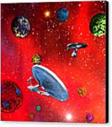 Star Ships Canvas Print by Michael Rucker