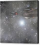 Star Trek - Approaching The Neutral Zone Canvas Print by Jason Politte