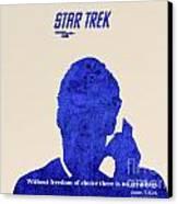 Star Trek Original - Kirk Quote Canvas Print by Pablo Franchi
