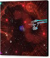 Star Trek - Punch It  Canvas Print by Michael Rucker