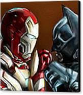 Stark Industries Vs Wayne Enterprises Canvas Print by Vinny John Usuriello